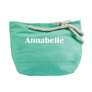 Personalized Mint Green Tote Bag with Rope Handles (1 Piece(s))