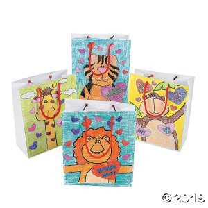 Color Your Own Valentine Gift Bags (Per Dozen)