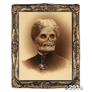 Aunt Hazel Holographic Print Halloween Decoration