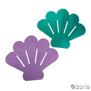 Mermaid Glitter Sea Shell Cutouts (1 Set(s))