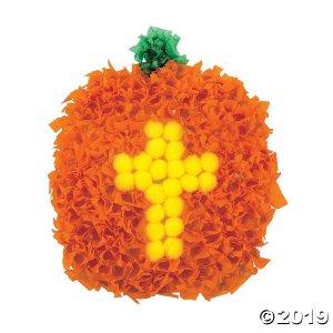 Christian Pumpkin Crinkle Tissue Paper Craft Kit (Makes 12)