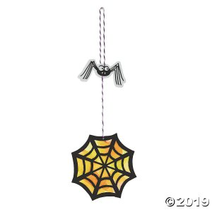 Hanging Spider & Web Tissue Paper Craft Kit (Makes 12)