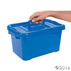 Blue Large Locking Storage Bins with Lids (3 Piece(s))
