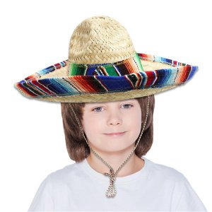 Kid's Sombrero with Serape Trim
