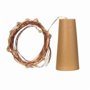 White LED Cork String Light Set