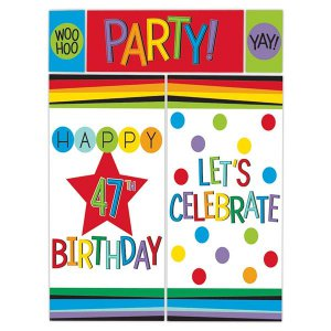 Rainbow Birthday Wall Decoration Kit (Per kit)