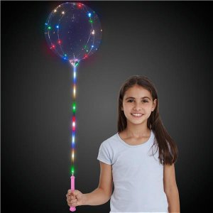LED Lollipop Balloon™ with Pink Handle