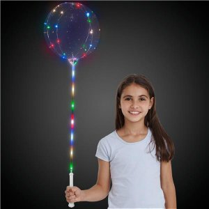 LED Lollipop Balloon™ with White Handle