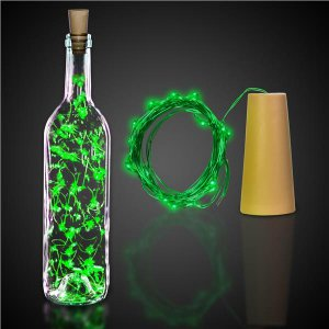 Green LED Cork String Light Set