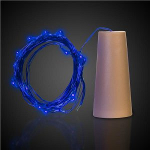 Blue LED Cork String Light Set
