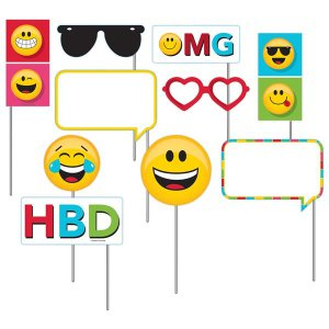 Emojicons Photo Booth Prop Kit (Per 12 pack)