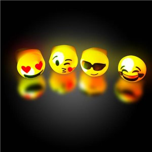 Emojicon LED Jelly Rings (Per 24 pack)