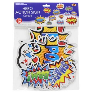 Hero Action Cutouts (Per 12 pack)