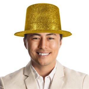 Gold Glitter Top Hat