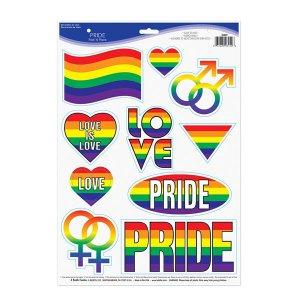 Rainbow Pride Stickers (Per 10 pack)