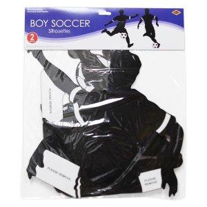 Male Soccer Player Cutouts (Per 2 pack)