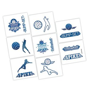 Volleyball Tattoos (Per pack)