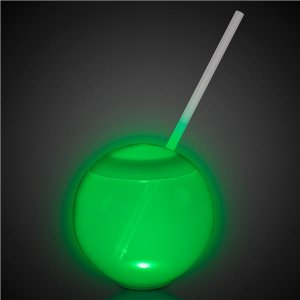 LED 20 oz Tumbler Ball Cup with Straw
