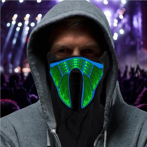 EL Light-Up Sound Activated Face Mask