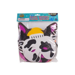 Farm Animal Masks (Per 12 pack)