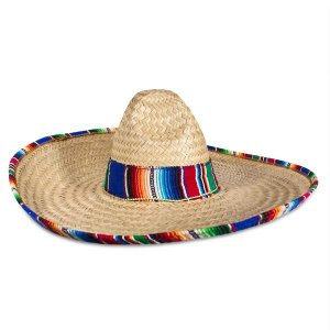 Sombrero with Serape Trim
