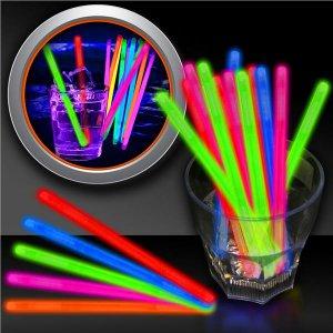 """Pink Glow 5"""" Swizzle Sticks"""