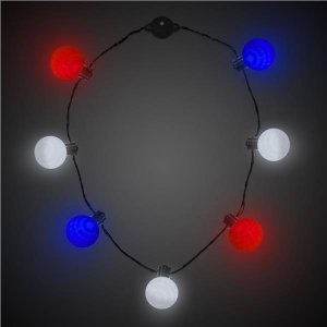 LED Patriotic Ball Necklace