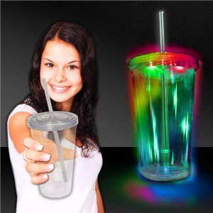 LED Double Wall 16 oz Cup