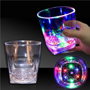 LED Square Bottom 10 oz Rocks Glass