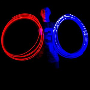 Green LED Light-Up Finger Rings