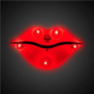LED Red Lips Blinkies
