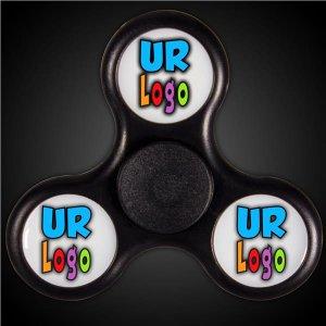 LED Black Fidget Toy Spinner