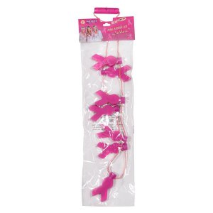 LED Pink Ribbon Necklace