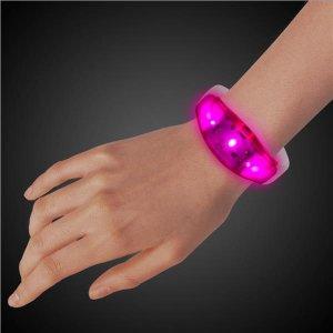 LED Pink Silicone Bracelet