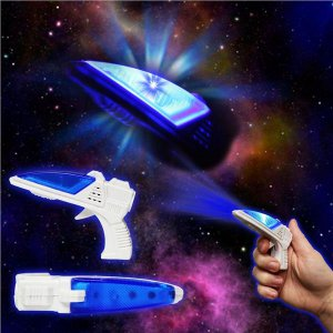 """LED Toy Space 3 1/2"""" Gun With Sound"""
