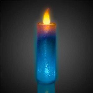 LED Flameless Multi-Color Glitter Candle