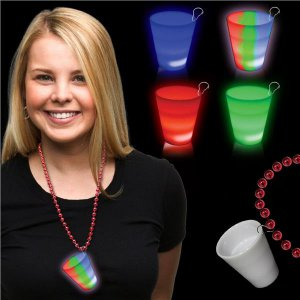Red LED 2 oz Shot Glass