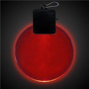 Red LED Round Medallion