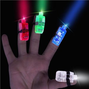 LED Finger Light Rings