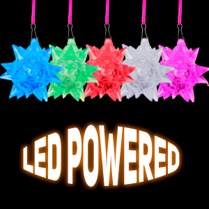 "3"" Light-Up Crystal Star Necklace"