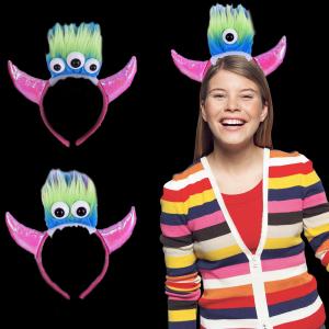 LED Light-Up Big-Eyed Demon Horn Jewelry Headband