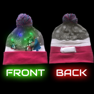LED Light-Up Knitting Christmas Penguin Hat