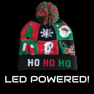 LED Light-Up Knitting Christmas Plaid Cartoon Hat