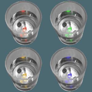 LED Light Up Liquid Activated Shot Glasses