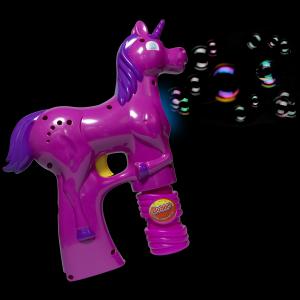LED Light-Up 7 Inch Bubble Gun- Unicorn