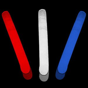"2"" Mini Glowsticks -Red, White & Blue (300 Pack)"