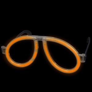 Glow Eyeglasses - Aviator - Orange (Individually Wrapped)