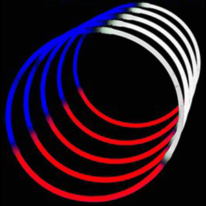 24'' Tri-Color Glowstick Necklaces - Red/White/Blue
