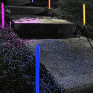 12 Inch Glowing Ground Stakes - 5 Color Mix