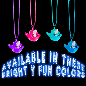 Light-Up Narwhal Necklaces